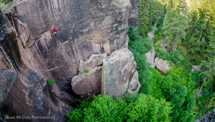 Joel Unema on a gorgeous crack in Mill Creek Canyon, UT photo Blake McCord