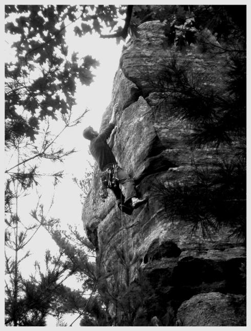 JJ Schlick on the First Ascent of Fire in the Sky Necedah, WI