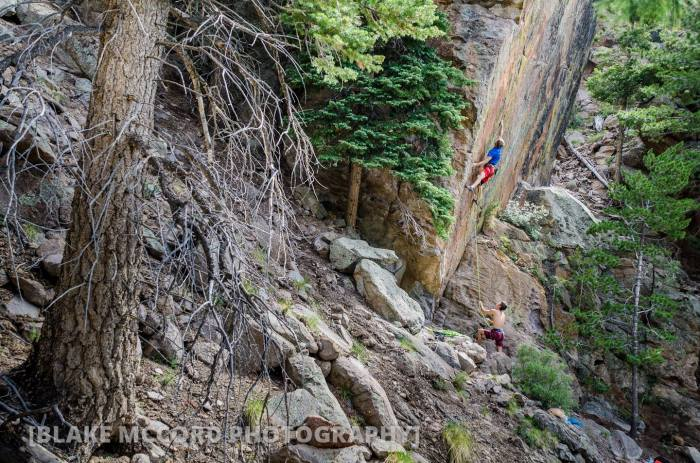 Joel Unema and John Crawley on the One Wall, Mt Elden, AZ