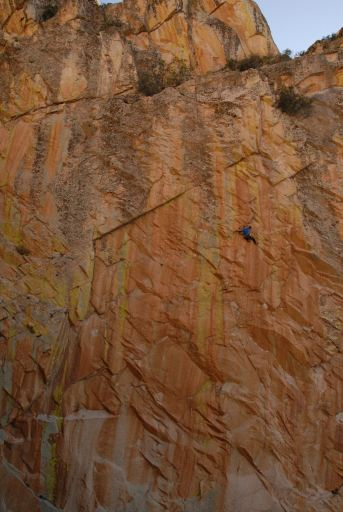Alex Kirkpatrick on Doubt 5.14a photo Carrie Albrecht