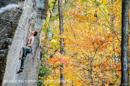 Nathan Welton in the Red River Gorge, KY photo Blake McCord