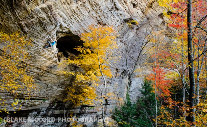 Joel Unema on Death by Chocolate, Red River Gorge, KY photo Blake McCord