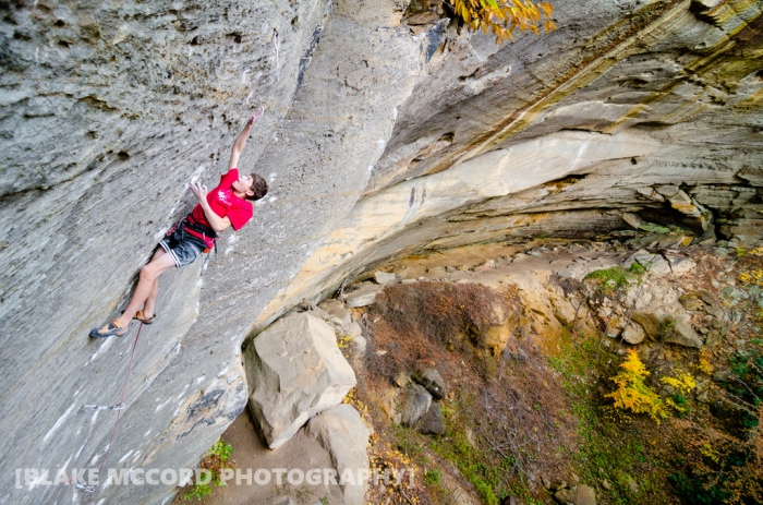 Harry Edwards on Lucifer, Red River Gorge, KY photo Blake McCord