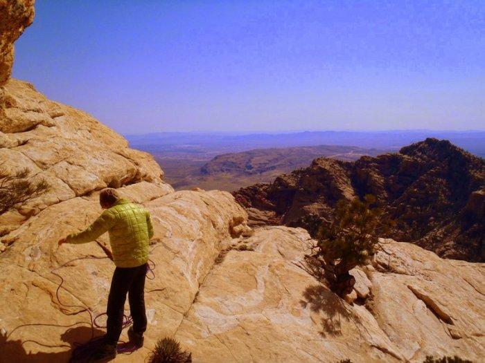 Nik Berry at the top of Crystal Dawn