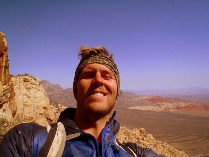 Joel Unema on the Buffalo Wall, Red Rocks, NV