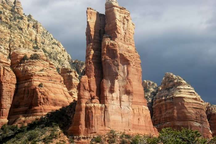 The South Face of Oak Creek Spire, Sedona AZ