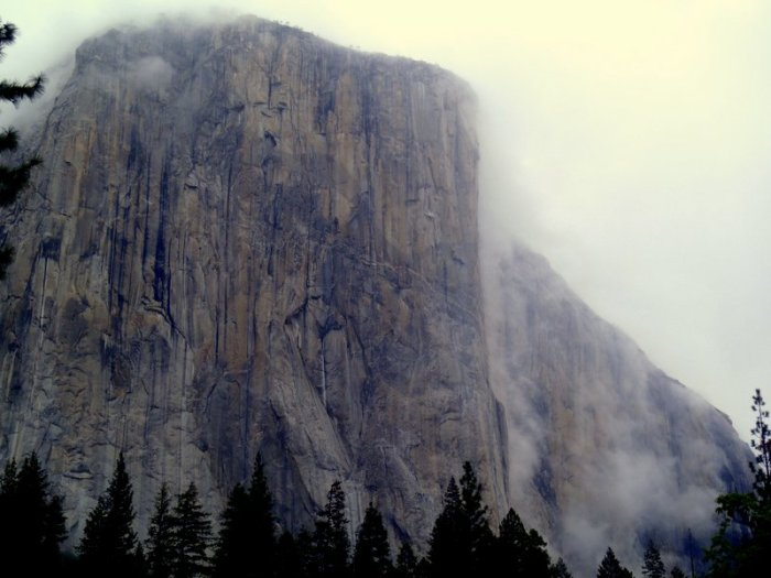 El Capitan on a weather day, Yosemite Valley