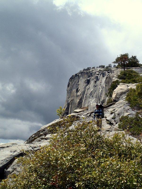 Dave Bloom hikes up El Capitan.