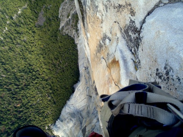 Looking down at Golden Gate, Yosemite Valley.