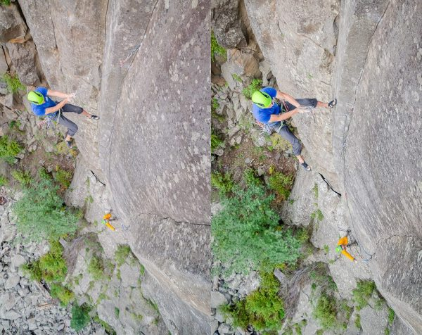 Joel Unema and Jeff Snyder on Pack Mentality, Volunteer Canyon AZ.  Photo Blake McCord